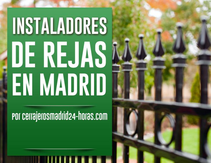 instalacion de rejas en Madrid